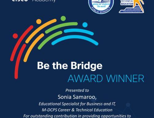 Sonia Samaroo named CISCO Academy Award Winner